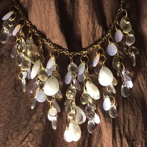 2=$50 Vintage Acrylic Tear Waterfall Necklace